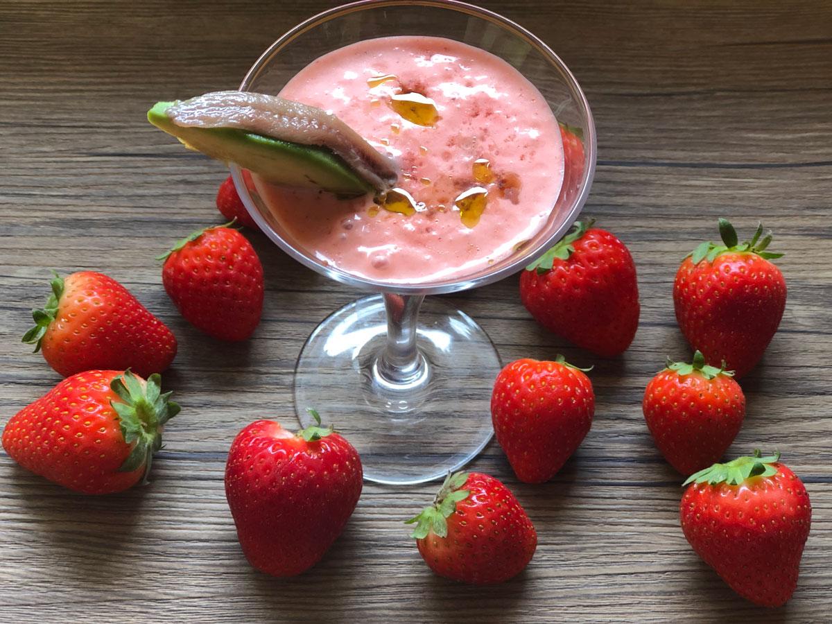 Receta de Gazpacho con Fresas