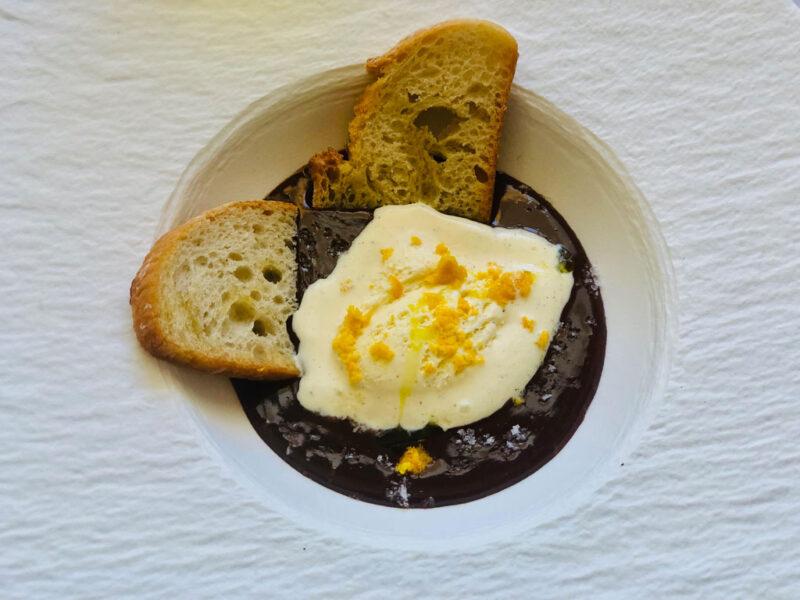 Sopa de Chocolate Negro
